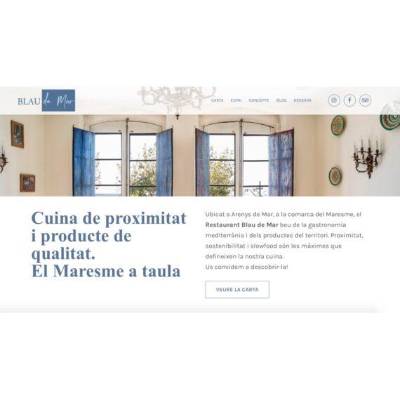 Web del Restaurant Blau de Mar